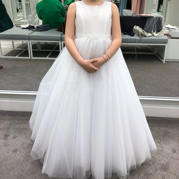 1a7e998fb7b3 David's Bridal Dresses   Flower Girl Or First Communion Dress   Poshmark